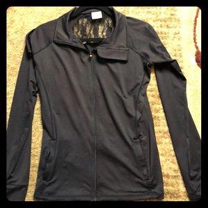 NWOT Danskin Zip up jacket with lace back